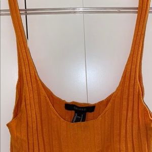 Forever 21 Tops - Orange Cute Tight Tank